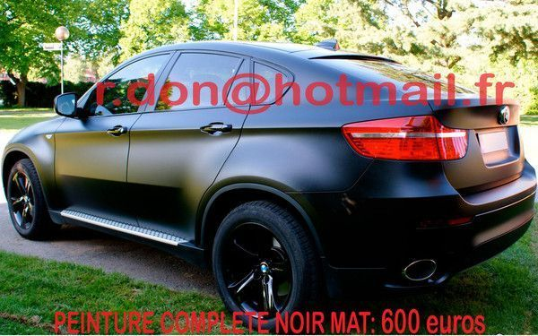 bmw x6 film noir mat. Black Bedroom Furniture Sets. Home Design Ideas