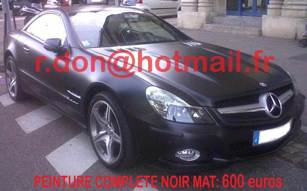 mercedes sl covering noir mat sur jantes. Black Bedroom Furniture Sets. Home Design Ideas