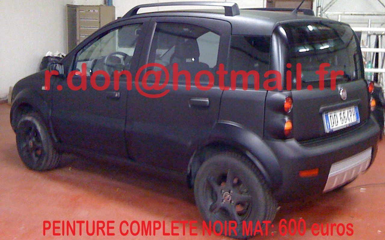 fiat panda auto carrosserie noir mat. Black Bedroom Furniture Sets. Home Design Ideas