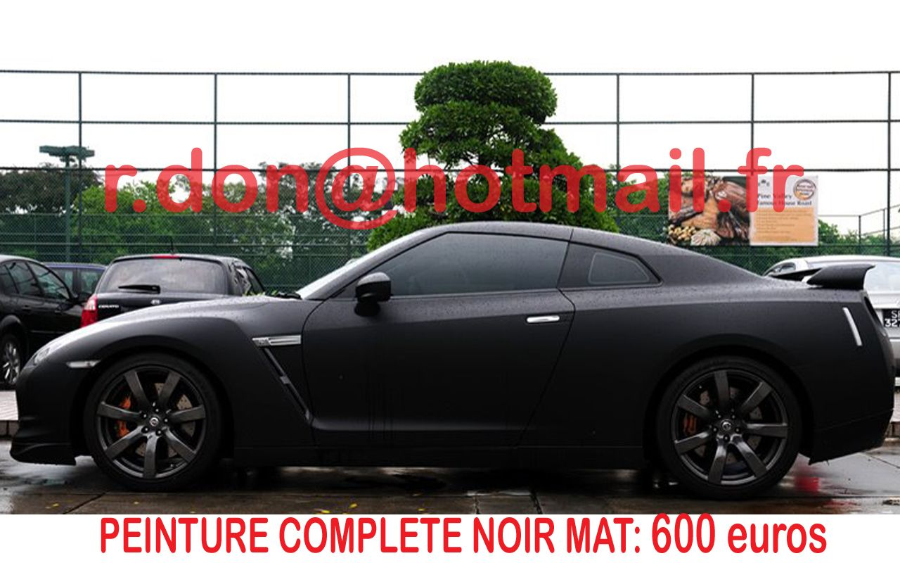nissan gtr covering noir mat hauts de seine. Black Bedroom Furniture Sets. Home Design Ideas