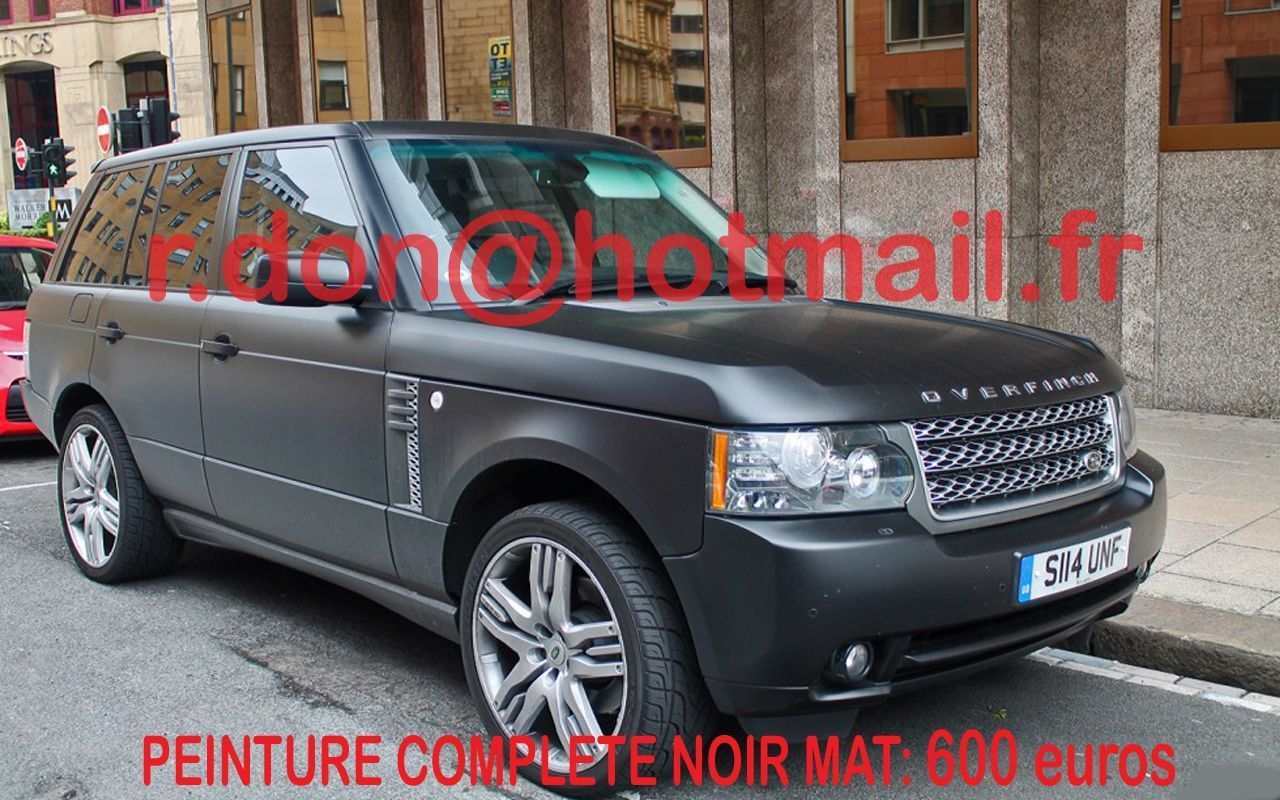 range rover noir mat pose film covering auto. Black Bedroom Furniture Sets. Home Design Ideas