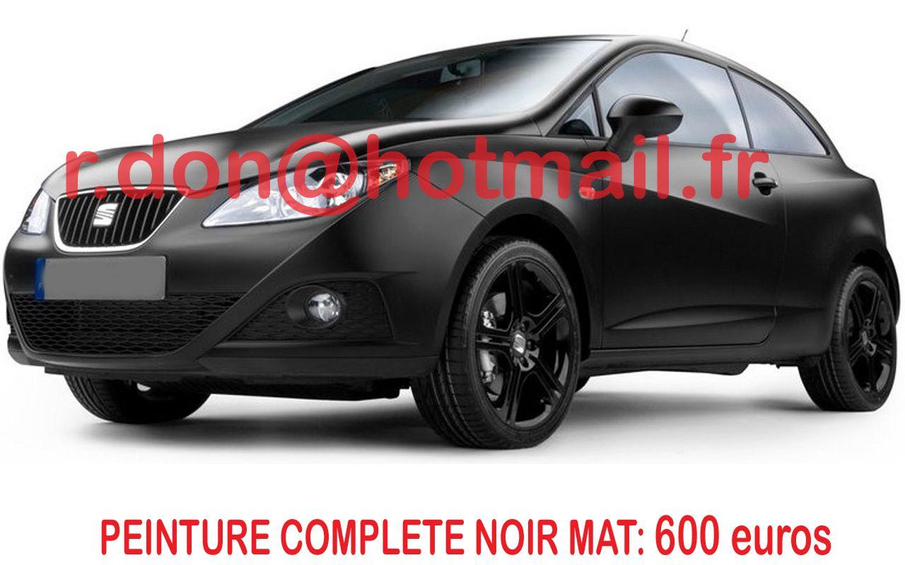 seat ibiza customisation automobile auto noir mat. Black Bedroom Furniture Sets. Home Design Ideas