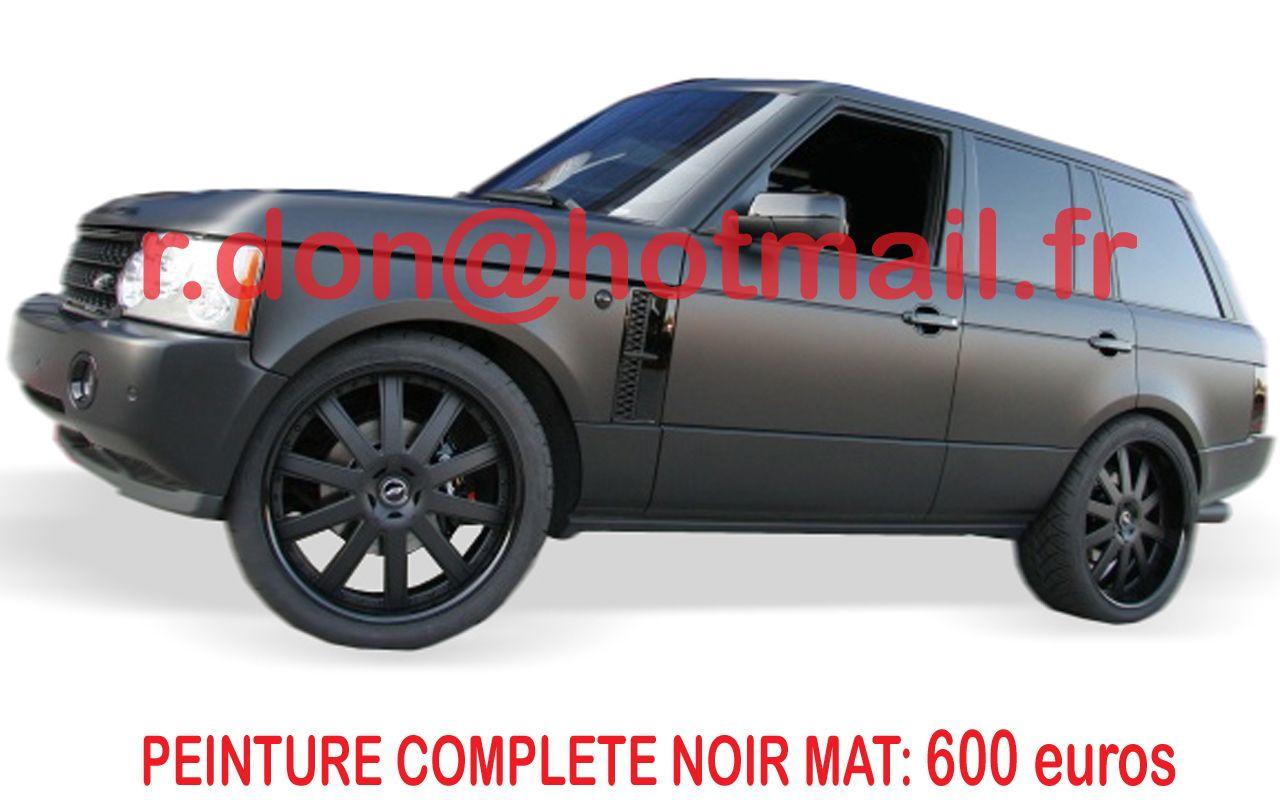range rover carrosserie noir mat peinture noir mat auto. Black Bedroom Furniture Sets. Home Design Ideas